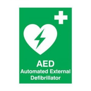 Fitness Mania - AED Automated External Defibrillator Sign