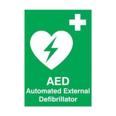 Fitness Mania – AED Automated External Defibrillator Sign