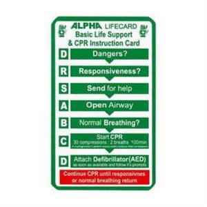 Fitness Mania - Basic Life Support & CPR Instruction Card