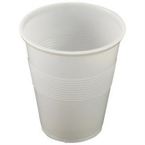 Fitness Mania - White Plastic Cups 200ml (10)