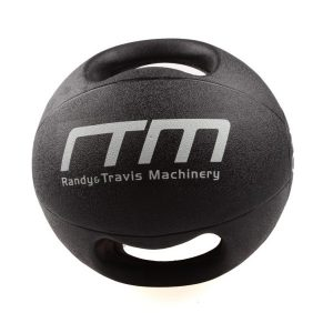 Fitness Mania - 10kg Double-Handled Rubber Medicine Core Ball