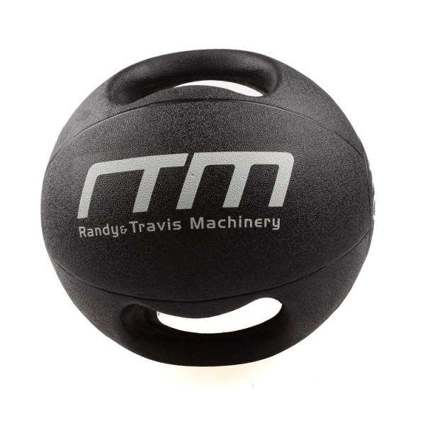 Fitness Mania – 10kg Double-Handled Rubber Medicine Core Ball