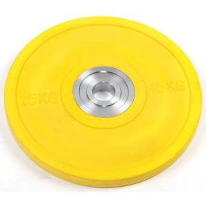 Fitness Mania - 15kg Pro Olympic Rubber Bumper Weight Plate