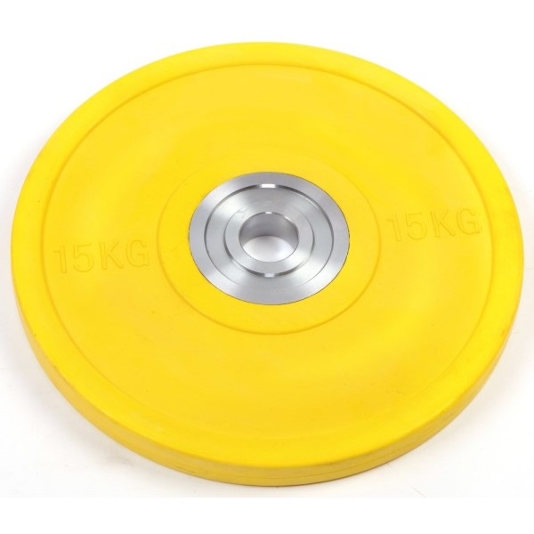 Fitness Mania – 15kg Pro Olympic Rubber Bumper Weight Plate