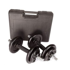 Fitness Mania - 20kg Dumbbell Set with Carrying Case