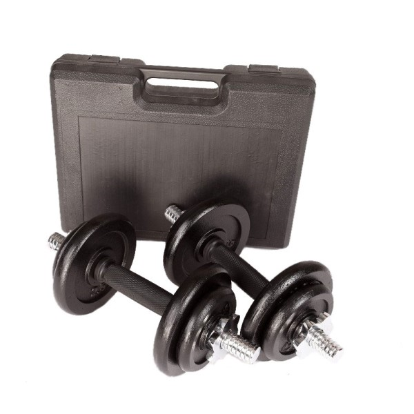 Fitness Mania – 20kg Dumbbell Set with Carrying Case
