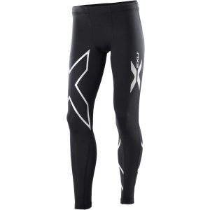 Fitness Mania - 2XU Kids Boys Compression Long Tights - Black/Silver