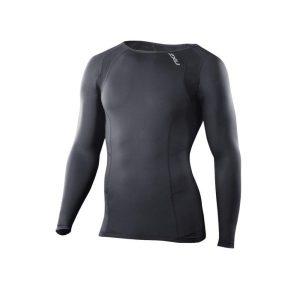 Fitness Mania - 2XU Mens Compression Long Sleeve Top - Black
