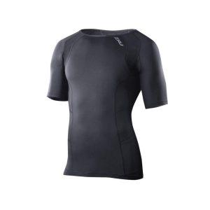 Fitness Mania - 2XU Mens Compression Short Sleeve Top - Black