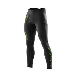 Fitness Mania - 2XU Mens Compression Tights - Black/Bright Green