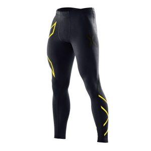 Fitness Mania - 2XU Mens Compression Tights - Black/Fluro Yellow