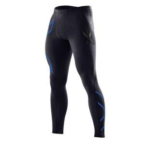 Fitness Mania - 2XU Mens Compression Tights - Black/Prussian Blue