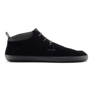 Fitness Mania - Vivobarefoot Drake Mens Suede Casual Shoes - Black