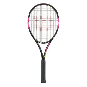 Fitness Mania - Wilson Burn 100LS Tennis Racquet - Pink