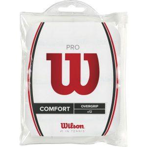Fitness Mania - Wilson Tennis Pro Overgrip - 12 Pack - White