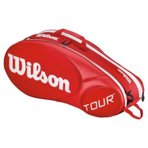 Fitness Mania - Wilson Tour Molded 2.0 6 Pack Tennis Bag - Red