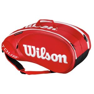 Fitness Mania - Wilson Tour Molded 2.0 9 Pack Tennis Racquet Bag - Red