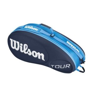 Fitness Mania - Wilson Tour Moulded 6 Pack Tennis Racquet Bag - Blue