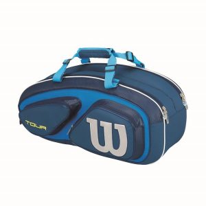 Fitness Mania - Wilson Tour V 6 Pack Tennis Racquet Bag - Blue