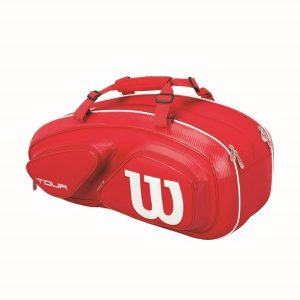 Fitness Mania - Wilson Tour V 6 Pack Tennis Racquet Bag - Red