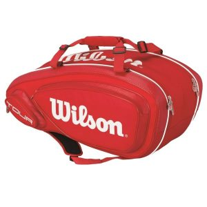 Fitness Mania - Wilson Tour V 9 Tennis Racquet Bag - Red