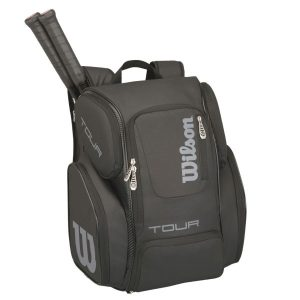 Fitness Mania - Wilson Tour V Tennis Backpack Bag - Black