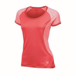 Fitness Mania - Wilson Tulip Cap Sleeve Kids Girls Tennis Top - Papaya