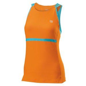 Fitness Mania - Wilson Up A Set - Womens Tennis Tank Top - Orange/Oceana
