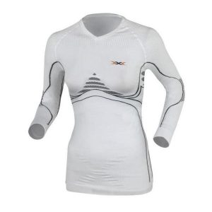 Fitness Mania - X-Bionic Energy Accumulator Heat/Cool Womens Long Sleeve Compression Shirt - White
