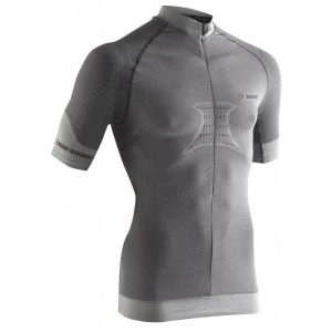 Fitness Mania - X-Bionic Fennec Mens Biking Short Sleeve Compression Shirt - Silver