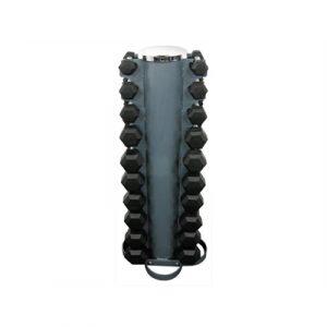 Fitness Mania - 1-10kg Rubber Hexagonal Dumbbell Set w/ Rack