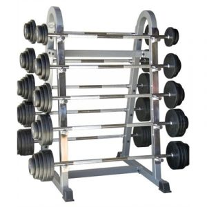 Fitness Mania - 10 Bar Set with Rack - 5kg to 50kg