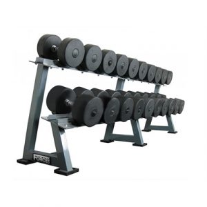 Fitness Mania - 27.5-50kg Commercial Rubber Dumbbells 10 Pairs