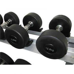 Fitness Mania - Commercial Rubber Dumbbell - 12.5kg