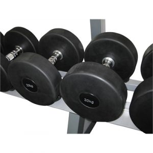 Fitness Mania - Commercial Rubber Dumbbell - 20kg