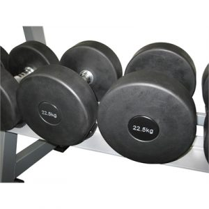 Fitness Mania - Commercial Rubber Dumbbell - 22.5kg