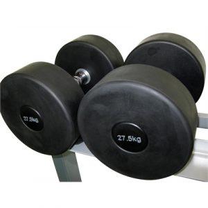 Fitness Mania - Commercial Rubber Dumbbell - 27.5kg