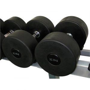 Fitness Mania - Commercial Rubber Dumbbell - 32.5kg