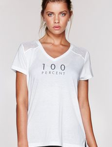 Fitness Mania - 100% T-Shirt White XS