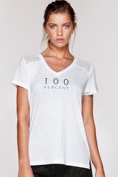 Fitness Mania – 100% T-Shirt White XS