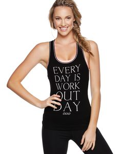 Fitness Mania - Work Out Day Tank Black L