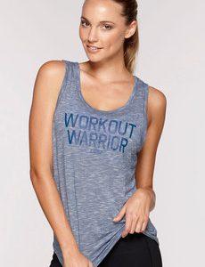 Fitness Mania - Workout Warrior Tank Ocean Marl L