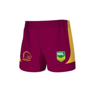 Fitness Mania - Brisbane Broncos Kids Home Supporter Shorts 2 Pack
