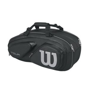 Fitness Mania - Wilson Tour V 6 Pack Tennis Racquet Bag - Black