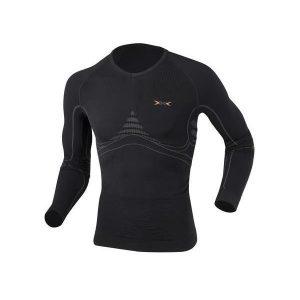 Fitness Mania - X-Bionic Energy Accumulator Heat/Cool Mens Long Sleeve Compression Shirt - Black