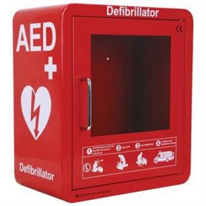 Fitness Mania - AED Red Wall Cabinet with Alarm and Light
