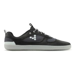 Fitness Mania - Vivobarefoot Aqua 2 Mens Leather Casual Shoes - Black