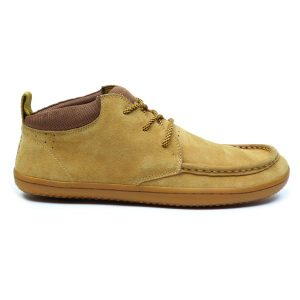 Fitness Mania - Vivobarefoot Drake Mens Suede Casual Shoes - Chestnut