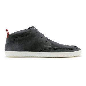 Fitness Mania - Vivobarefoot Drake Mens Suede Casual Shoes - Dark Grey