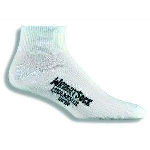Fitness Mania - Wrightsock Coolmesh II Anti-Blister Quarter Running Socks - White